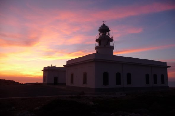 Sunset from Cavallería Lighthouse