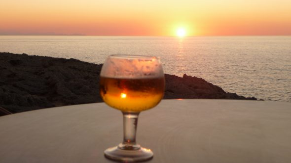 Sunset at Sa Posta de Sol bar overlooking Mallorca