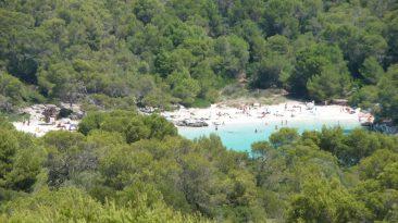 Cala en Turqueta desde Talaia d'Artrutx
