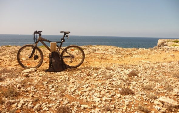 With My Old Bike on the Cami de Cavalls
