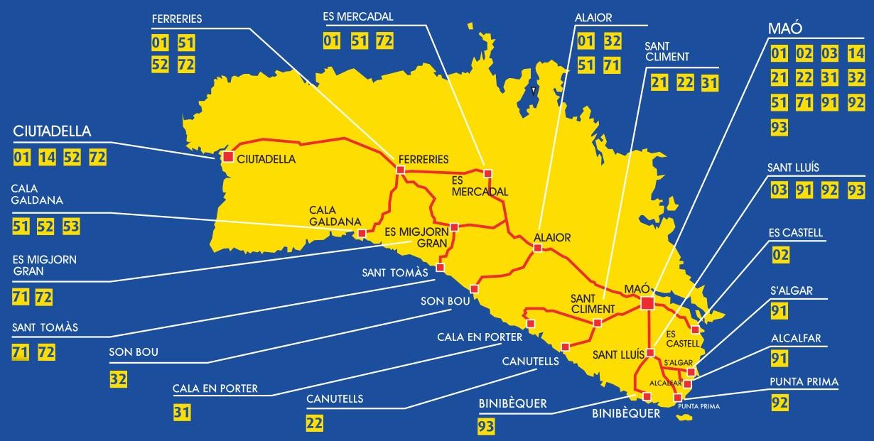 Mapas De Menorca Menorca Diferente