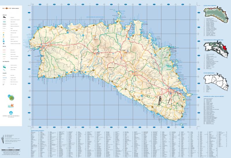Mapa Completo del Camí de Cavalls - Consell Insular de Menorca