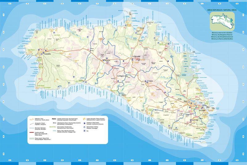Map of Menorca (original in visitmenorca.com)