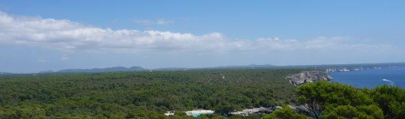 Panorámica del Sur de Menorca desde la torre.