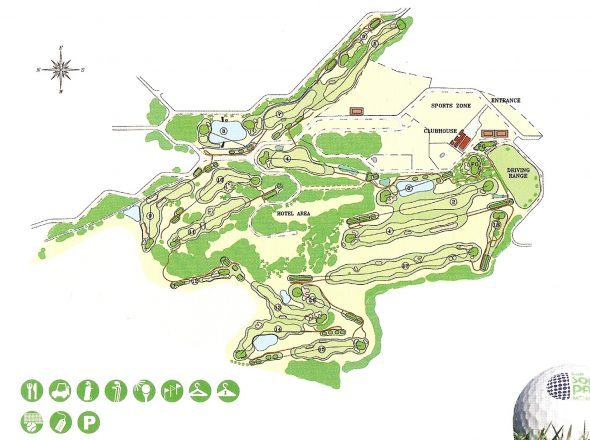 plano campo golf son parc