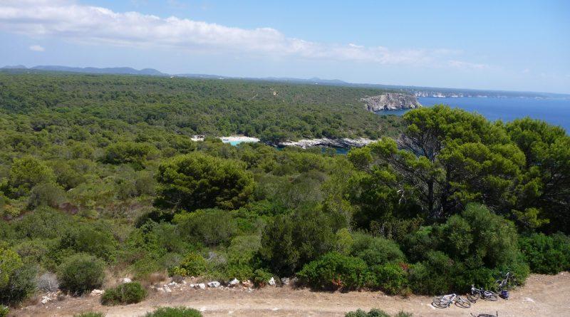 Vista aérea de Cala Turqueta