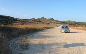 Camino a las playas de Menorca