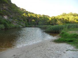 interior del Río de Cala Trebalúger
