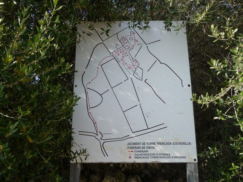 Map of points of interest of the town of Torretrencada