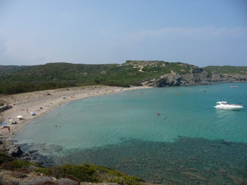 Cala Tortuga in summer