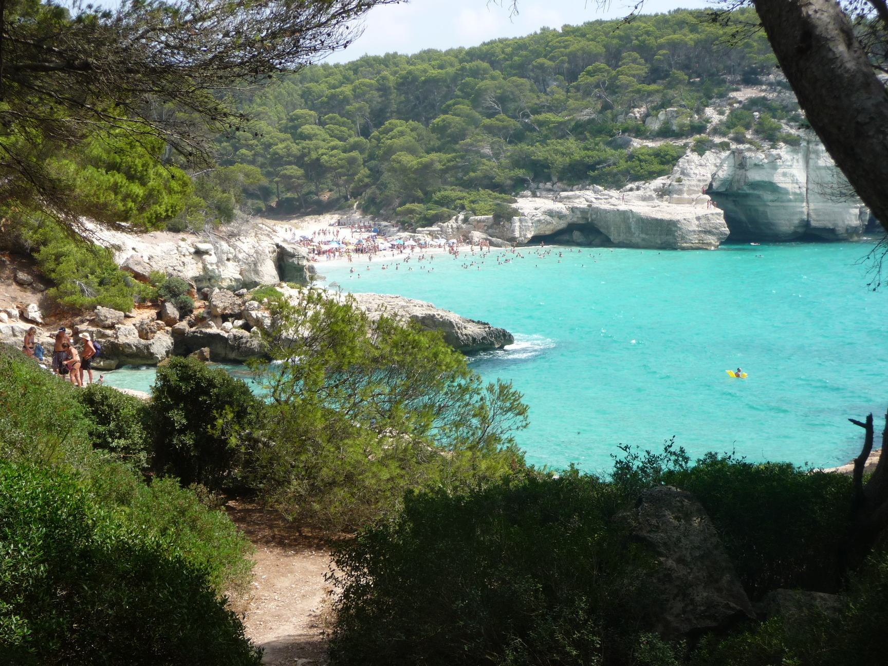 Cala Mitjana seen from the Camí de Cavalls. Stage Cala Galdana to Santo Tomás