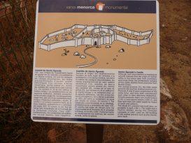 Cartel informativo del Castillo de Santa Àgueda