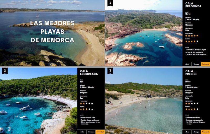 Sample of the Free Guide to the Best Beaches in Menorca
