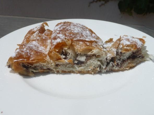 Ensaimada from Menorca - with chocolate- P1120944