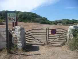 Puerta del Camí de Cavalls - inicio del recorrido