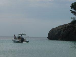 Taximar saliendo de la playa