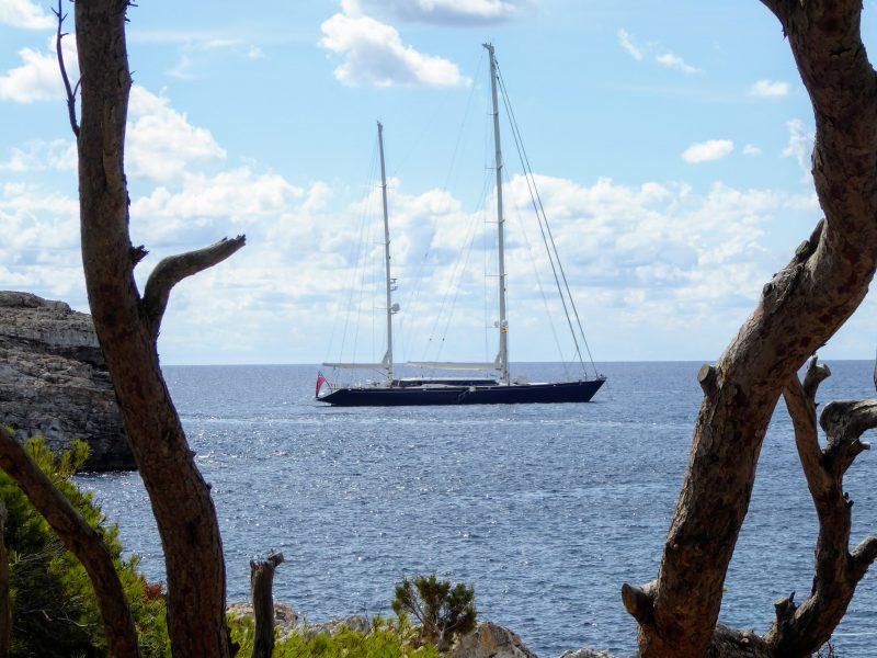 Sailboat in Cala Turqueta