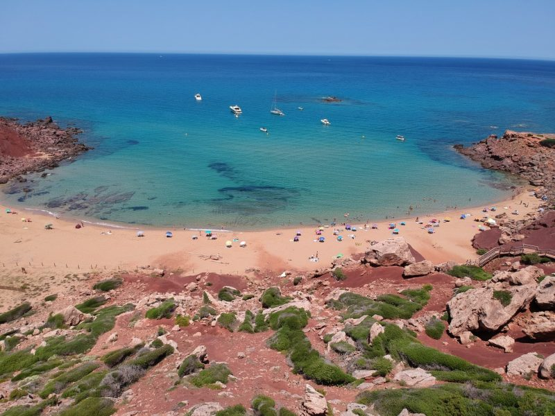 Cala Pilar from the Air