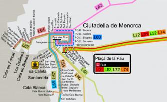 Autobús de Ciutadella a Santandria