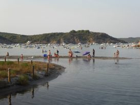 Familias en la Playa des Grau - P1030382
