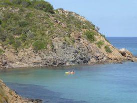Kayak en Es Grau hacia Cala Vidrier - P1020581