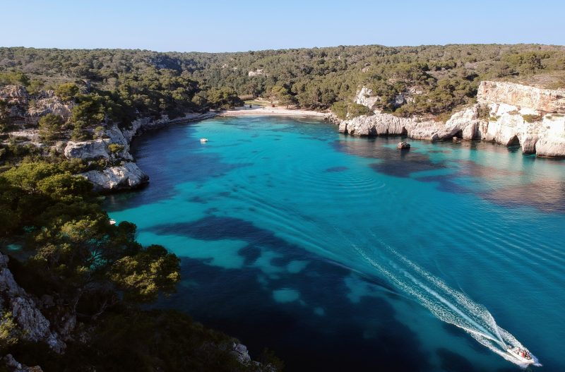 Cala Macarella from the Air