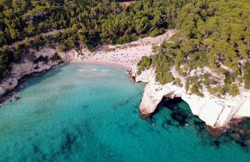 Cala Mitjana from the Air