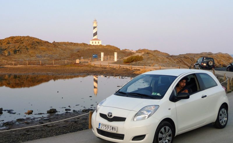 Car at Favaritx Lighthouse