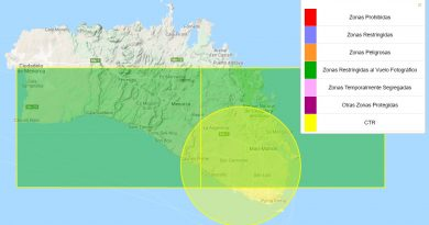 zonas de Menorca donde estña prohibido volar tu dron