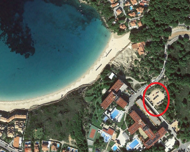 Arenal den Castell Beach Parking