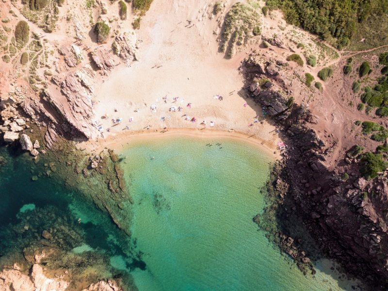 Aerial view of Cala Pregondó